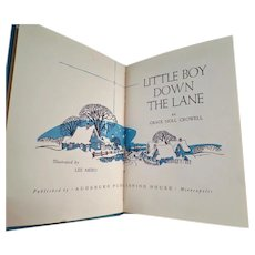 Vintage Story Book - 1952 Little Boy Down the Lane by Grace Noll Crowell