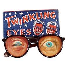 Vintage Flicker Toy Eyeglasses - Twinkling Eyes Glasses with Original Box
