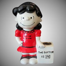 Vintage Doctor Lucy Hallmark Candle Holder – 1970's United Features Syndicate