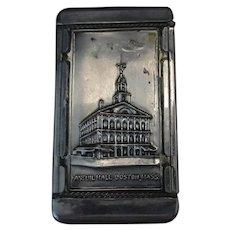 Vintage Boston Souvenir Vesta Case or Match Holder - Bunker Hill & Faneuil Hall
