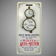 Vintage Celluloid Automotive Advertising – 1905 Warner Auto Meter
