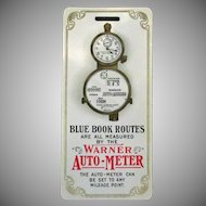 Vintage Celluloid Automotive Advertising – 1905 Warner Auto Meter