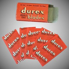 Vintage Durex Double Edge Razor Blades with Original Box