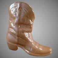 Vintage Frankoma Pottery Wall Pocket Boot Vase
