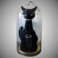 Vintage Max Factor Sophisti-Cat with Perfume Bottle – Blue Feather