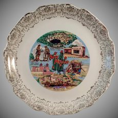 Vintage Souvenir Plate with Noted New Mexico Landmarks