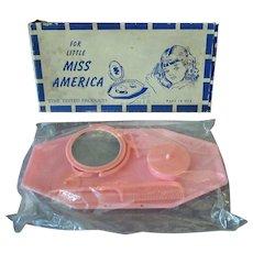 Vintage Little Miss America Plastic Vanity Set in Original Box