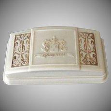Vintage Hamilton Wrist Watch Bakelite Display Box with Ornate Design