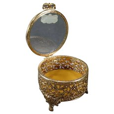 Vintage Stylebuilt Dresser Box Vanity Trinket Holder with Beveled Glass – Original Label