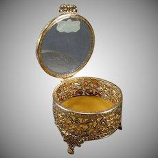 Vintage Stylebuilt Dresser Box Vanity Trinket Holder with Beveled Glass – Original Label