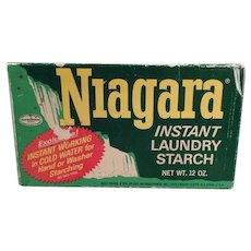 Vintage Niagara Starch Box Laundry Room Decorating Item