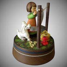 Vintage Anri Music Box with Girl Hanging Laundry – Lara's Theme
