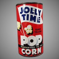 Vintage Jolly Time Popcorn Tin - 1946 Unopened