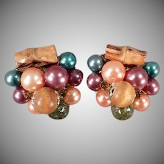 Vintage Costume Jewelry Clip On Earrings - Beads and Bamboo
