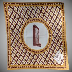 Large Vintage Cloth Napkin from San Francisco Hilton Tower - Hotel Advertising