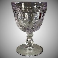 Vintage Fostoria #2412 Colony Pattern Water Glass Goblet - Sun Purple - 8 Available