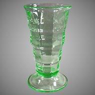 Vintage Soda Fountain Glass- Green Paden City Malt Glass - 2 Available