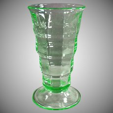 Vintage Soda Fountain Glass- Green Paden City Malt Glass - 2 Available