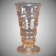 Vintage Soda Fountain Glassware - Pink Paden City Party Line Malt Glass