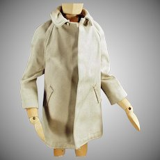 Vintage Ken Doll Clothes - All Weather Over Coat for Mattel's Ken Doll
