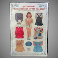 Vintage Queen Holden's Gloria Paper Doll – Uncut Sheet with Original Packaging