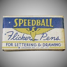 Vintage FB1 Pen Nibs - Speedball Flicker Pen Nibs with Original Box