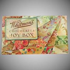 Vintage Whitman's Chocolates Candy Box - The Joy Box