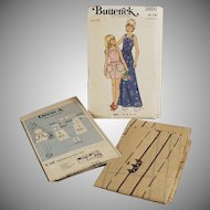 Old  #3691 Butterick Pattern - Little Girls Pinafore Style Dress - Vintage Size 14