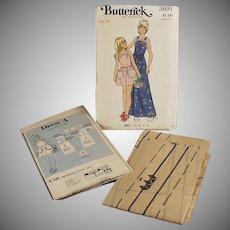 Old  #3691 Butterick Pattern - Little Girls Pinafore Style Dress - Vintage Size 14