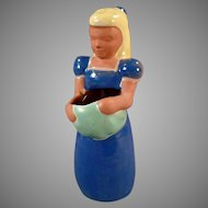 Vintage Frankoma Pottery - #701 Frankoma Kid - Gardener Girl