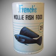 Vintage Fish Food Box - French's Mollie Food