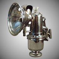 Vintage Riemann Carbide Bicycle Lamp with Original Bracket