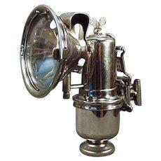 Vintage Riemann Carbide Bicycle Lamp with Original Bracket