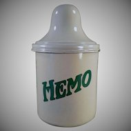 Vintage Thompson's Hemo Porcelain Malt Canister with Lid
