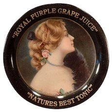 Vintage Advertising Tip Tray – 1907 Royal Purple Grape Juice Advertising