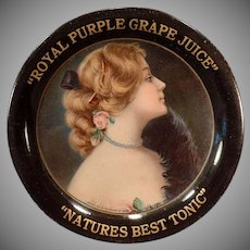 Vintage Advertising Tip Tray – 1907 Royal Purple Grape Juice Advertising