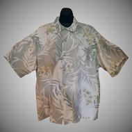 Vintage Hawaiian Style Majestic Casual Shirt with Hibiscus Flower Design - Size XXL