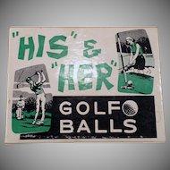 1970's Joke Box – His and Her Golf Balls Gag Gift for the Golfer