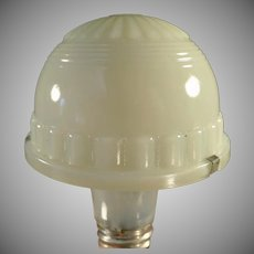 Vintage Opalescent Custard Glass Lamp Shade - Small Specialty Shade