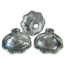 Three (3) Franklin Light Shades with Small Necks for Vintage Fixture - 1905