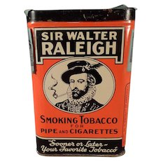 Vintage Sir Walter Raleigh in the Can - Vertical Pocket Tobacco Tin