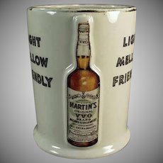 Vintage Martin's Whiskey Porcelain Advertising Cup/Mug