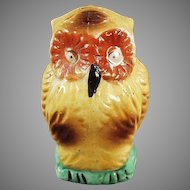 Unusual Vintage Owl Bird Feeder - Colorful Old Bird Cage Accessory