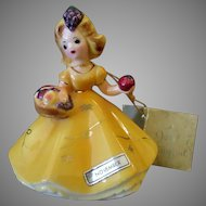 Vintage Josef Original Figurine - November with Harvest Basket
