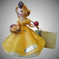 Vintage Josef Original Figurine - November with Harvest Basket