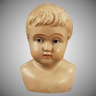 Vintage Celluloid Shoulder Head Doll - Marked American with Indian Logo