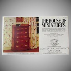 Vintage Craftmark House of Miniatures Doll Furniture – Chippendale Chest #40009 Unassembled 1976 Kit