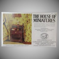 Vintage Craftmark House of Miniatures Doll Furniture – Chippendale Nightstand #40012 Unassembled 1976 Kit