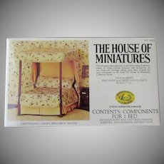 Vintage Xacto House of Miniatures Doll Furniture – Chippendale Canopy Bed #40014 Unassembled Kit