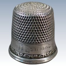 Vintage Sterling Silver Goldsmith Stern Sewing Thimble –  Size 11